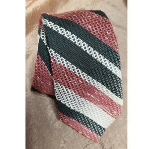 🔥 CLEARANCE 🔥 Vintage Tie Red Black Silver